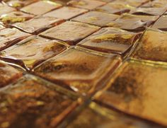 Fuoco 201 Metal Amber Designer Murano Glass Italian Mosaic Tiles