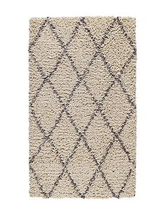 Diamond Shaggy Rug | M&S