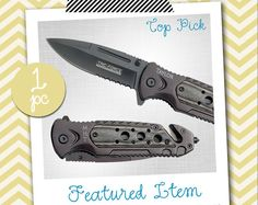 Groomsmen Gifts 1 PERSONALIZED Knife Engraved Knife Custom Knife Engraved Pocket Rescue Knife Hunting Knife Groomsman Gifts Gift for Men