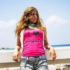 I Love Vegans shirt from The Vegan Woman's new online catalog!