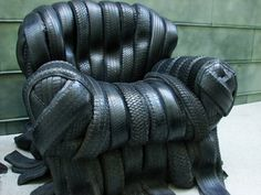 No WAY! Cool tire chair. I wonder if it gets black grime on your clothes!?!
