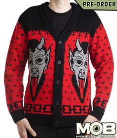 Krampus The Christmas Devil Knit Cardigan – Middle of Beyond