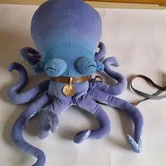 """Walking Your Octopus"" official Otto plush, coming soon! (Really loving the watercolor fade of the fabric. So perfect!)"