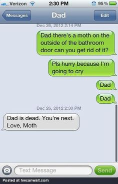 SOOO something my dad would say lol