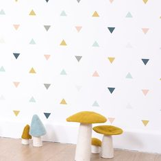 Triangles Wallpaper by Lilipinso, available at Bobby Rabbit. - Lisi Lein - Triangles Wallpaper by Lilipinso, available at Bobby Rabbit. Triangles Wallpaper by Lilipinso, available at Bobby Rabbit.