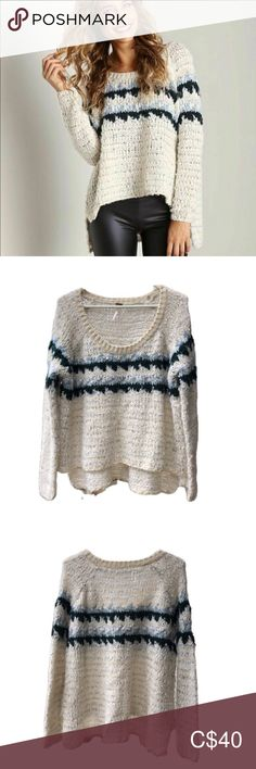Free People Chunky Knit Cropped Fair Isle Sweater Free People Chunky Knit Cropped Fair Isle Sweater Free People soft, fuzzy, chunky knit sweater in Fair Isle style. In ge. Plus Fashion, Fashion Tips, Fashion Trends, Free People, Sweaters For Women, Knitting Sweaters, Skinny, Boat Neck, High Low