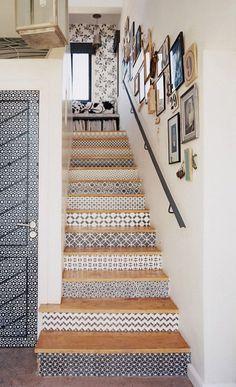 transformer son escalier avec du papier peint - @canal