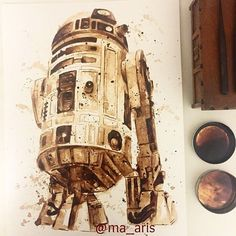 R2D2 coffee illustration by Maria A. Aristidou