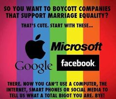 Companies that support marriage equality.