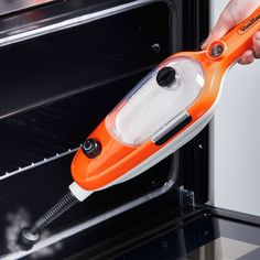 VonHaus 1500W multifunctional steam mop: use as upright or handheld, suitable for carpets and hard floors, includes window cleaning attachment, small scrubbing brush, medium scrubbing brush, jet nozzle, scraping tool, grout cleaning tool; adjustable steam flow, rapid heat up, removable 450ml tank, 6m cord; £23.99. 5* reviews.   DOMU