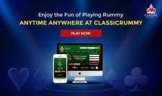 Enjoy the fun of playing rummy Anytime Anywhere at CLASSIC RUMMY!Play Now!  https://www.classicrummy.com/play-rummy-games-on-mobile?link_name=CR-12