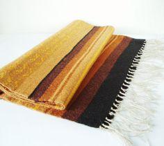 Wool Table Runner Vintage Mid Century Modern By MerilinsRetro, $45.00