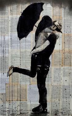 "Saatchi Art Artist: Loui Jover; Ink 2014 Drawing ""rainy day lovers"""