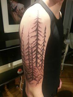 12+ Forest Tattoos On Leg