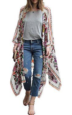 b8f42bfce860c Summer Style Women Long Blouse 2017 Chiffon Kimono Cardigan Blusa Feminina  Casual Shirts Jackets Long Beach Cover Up Tops blusa