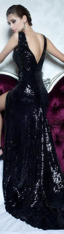Rochii de seara - Black sequened ♥♥