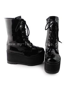 f4020a5c398b4 Beautiful Black Gothic Boots  Lolita  Boots Goth Shoes