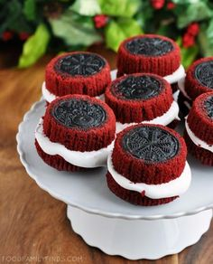 Oreo Stuffed Red Velvet Cupcakes