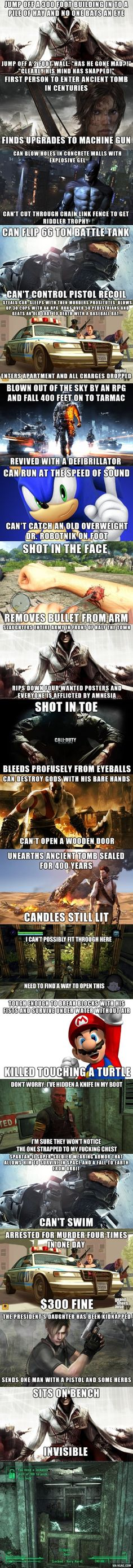 Video Game logic...Kassie will appreciate this even more than me.