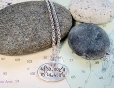 Coordinate Necklace Custom Latitude by ElizabethPriorDesign