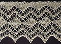 Diamond ace knit edging