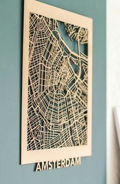 Lasercut map