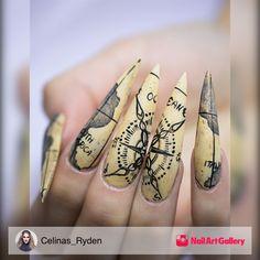 Nails Next Top Nail Artist First Pre-Challange by Celinas_Ryden via Nail Art Gallery #nailartgallery #nailart #nails #mixedmedia #tutorial #map #ntna #earthglobe