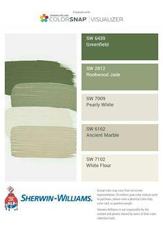 Ein tolles Farbschema für mein Draussenzimmer – am liebsten wirklich draußen, … A great color scheme for my outside room – preferably really outside, terrace! Green Exterior Paints, Best Exterior Paint, Exterior Paint Colors For House, Paint Colors For Home, Exterior Colors, Green Paint Colors, Green Colour Palette, Room Colors, Taupe Color Palettes