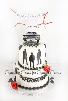 Supernatural Cake 2 tier