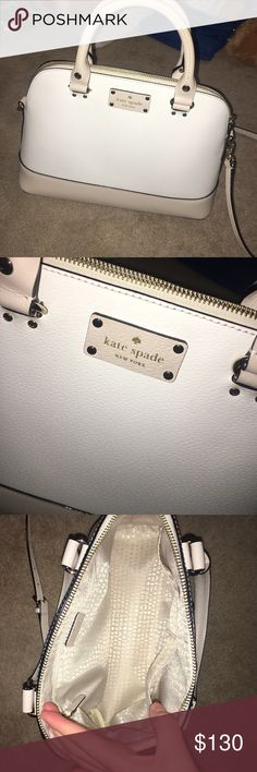 Kate Spade Rachelle Wellesley Purse w/ crossbody Perfect condition. No stains inside. I've barely used it. No wear signs. I love the bag but I have back problems and I need a smaller purse. Any other questions please ask me! This is the Rachelle small NOT the mini. kate spade Bags Crossbody Bags