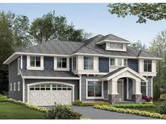 Craftsman House Plan with 2980 Square Feet and 4 Bedrooms(s) from Dream Home Source | House Plan Code DHSW58360