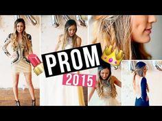 Prom Makeup, Hair Tutorial, DIY Face Mask & Dress Ideas! | LaurDIY - YouTube