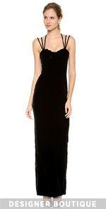 Olcay Gulsen-Triple Strap Velvet Gown