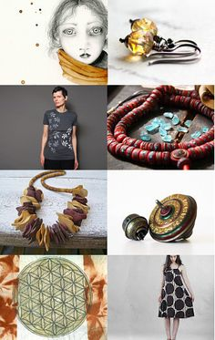 """Warm Texture"" - a wonderful treasury curated by Keri, of izyandoly, featuring my painting collection ""Smoulder""--Pinned with TreasuryPin.com"