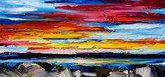 When the Sun Goes Down Again, oil sunset painting by Kimberly Kiel | Effusion Art Gallery + Cast Glass Studio, Invermere BC Sky Painting, Painting For Kids, Dance Paintings, Landscape Paintings, Modern Art, Contemporary Art, Wedding Painting, Cast Glass, Mountain Paintings