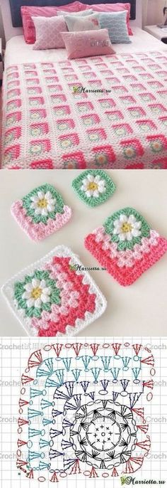 Transcendent Crochet a Solid Granny Square Ideas. Wonderful Crochet a Solid Granny Square Ideas That You Would Love. Crochet Blocks, Crochet Squares, Crochet Blanket Patterns, Crochet Afghans, Crochet Granny, Crochet Motif, Crochet Designs, Crochet Flowers, Crochet Stitches