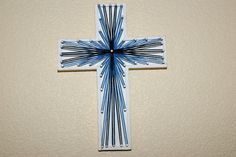 String Art  Cross  3D  9 inches tall by StringSection on Etsy, $19.00