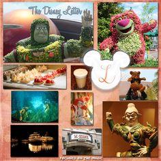 """Wordless Wednesday Theme ~ Disney Inspired Letter """"L"""""""