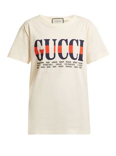 182023bf3cf1 Click here to buy Gucci Logo-print cotton T-shirt at MATCHESFASHION.COM