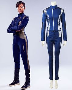 This uniform is dyed the custom navy blue color with special cutting so that it could show your good body shape. Star Trek Clothing, Cosplay Costumes, Cosplay Ideas, Costume Ideas, Star Trek Uniforms, Sonequa Martin Green, Bleach Cosplay, Star Trek Cosplay, Beautiful Women Quotes