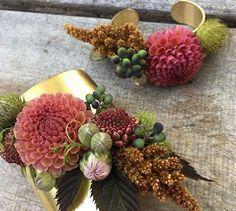 Gorgeous fall floral bracelets ~ dahlia love