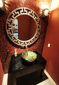 m.a.p. interiors - asian - powder room - orange county - m.a.p. interiors inc. / Sylvia Beez