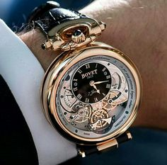 Here's one of the most amazing Bovet watches I've ever layed.- Here's one of the most amazing Bovet watches I've ever layed eyes on. Here's one of the most amazing Bovet watches I've ever layed eyes on. Best Watches For Men, Fine Watches, Luxury Watches For Men, Cool Watches, Elegant Watches, Stylish Watches, Beautiful Watches, Style Masculin, Swiss Army Watches