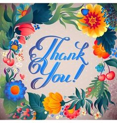 Thank You Messages Gratitude, Thank You Cards, Free Happy Birthday Cards, Birthday Greetings, Color Vector, Vector Art, Thank You Typography, Thank You Images, Thank You Flowers