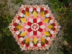 Rosette 1 of the The New Hexagon -- Millefiore Quilt Along | by yatii