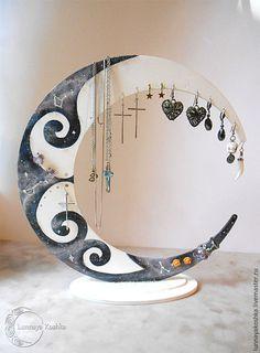 Мебель ручной работы. Ярмарка Мастеров - ручная работа. Купить Лунный стенд-органайзер для украшений. Handmade. Комбинированный, стенд для украшений
