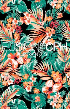 Tropical print.. from Fusion CPH print design studio from Copenhagen. We design all kind of prints for fashion and interior textiles. See some of our unique prints at Instagram: fusioncph or at www.fusioncph.com Textile Prints, Textiles, Pattern Design, Print Design, Surface Pattern, Surface Design, Mixing Prints, Cosmic, Tropical