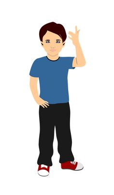 Caucasian boy avatar for eLearning with Adobe Captivate, Techsmith Camtasia, and Articulate Storyline.