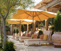 Lounger & Umbrellas from Auberge Du Soleil