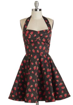 Dresses - Traveling Cupcake Truck Dress in Strawberries